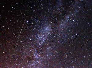Perseid Meteor and Milky Way (Wikimedia)